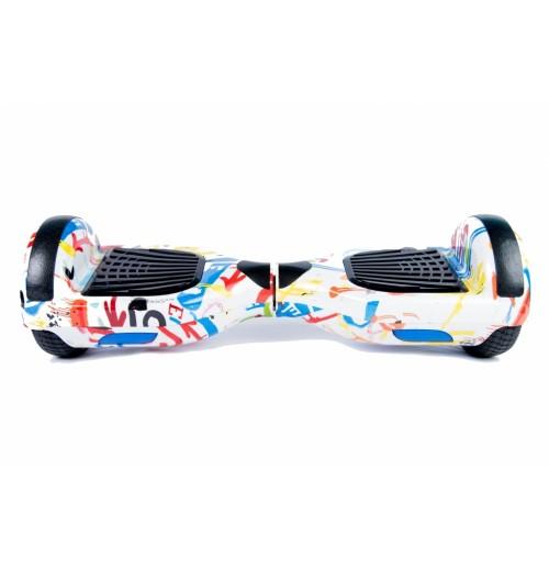 Smart Balance Wheel 6.5 Граффити Белый - Музыка + Самобаланс