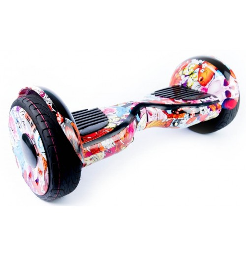 Гироскутер Smart Balance Premium 10 SUV Черепа Цветы + Самобаланс, Музыка, ТаоТао